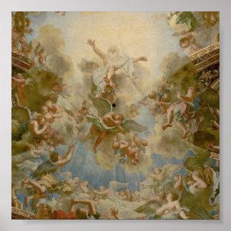 Dios todopoderoso el padre - palacio de Versalles Poster