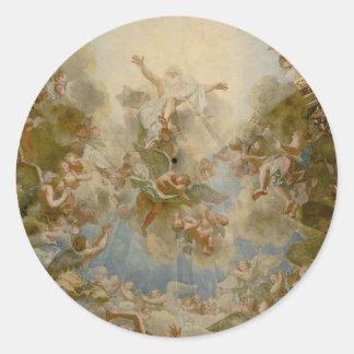 Dios todopoderoso el padre - palacio de Versalles Pegatina Redonda