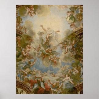 Dios todopoderoso el padre - palacio de Versalles Póster