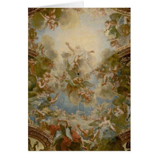 Dios todopoderoso el padre - palacio de Versalles Tarjeta De Felicitación