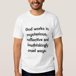 Dios trabaja en misterioso, playeras