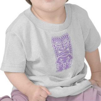 dios tribal del tiki de la lavanda del tótem feroz camisetas