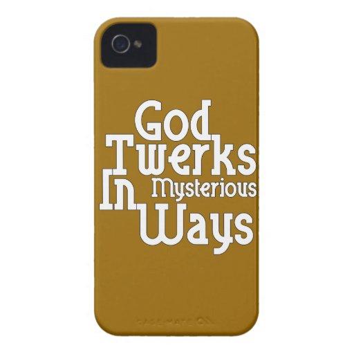 Dios Twerks de maneras misteriosas Case-Mate iPhone 4 Carcasa