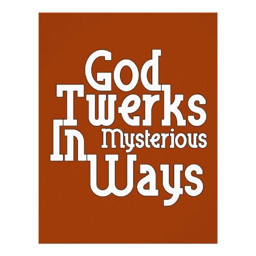 Dios Twerks de maneras misteriosas Membrete Personalizado