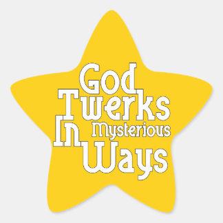 Dios Twerks de maneras misteriosas Pegatina En Forma De Estrella