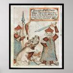 Dios Tyr de los nórdises que pierde su mano al lob Póster