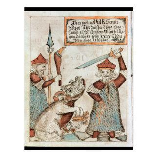 Dios Tyr de los nórdises que pierde su mano al lob Tarjetas Postales