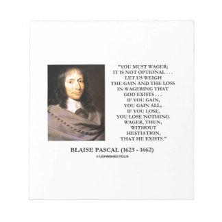 Dios Wagering de la pérdida del aumento de Blaise Libreta Para Notas