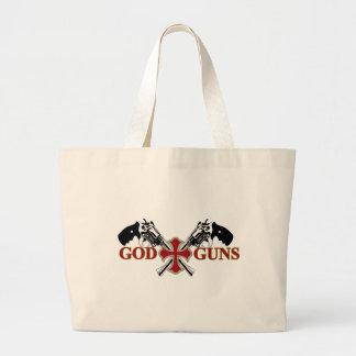 Dios y armas bolsa tela grande