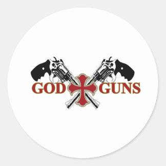 Dios y armas pegatina