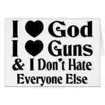 Dios y armas tarjeta