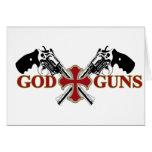 Dios y armas tarjeta de felicitación