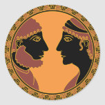 dios y diosa griegos pegatinas redondas