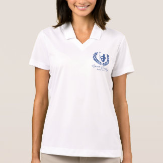 Dios y el laurel griegos de la travesía de la camiseta polo