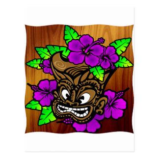 Dios y flores de Tiki Postales