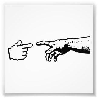 Dios y las manos de la máquina fotografías