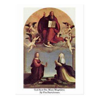 Dios y Sts. Maria Magdalen de Fra Bartolomeo Tarjetas Postales