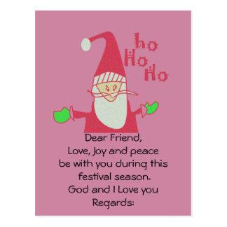Dios y te amo postales de HoHoHo Santa