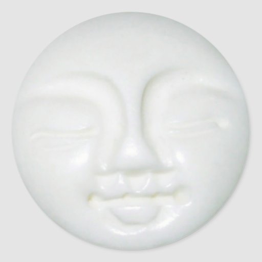 Diosa 3 de la luna etiquetas redondas