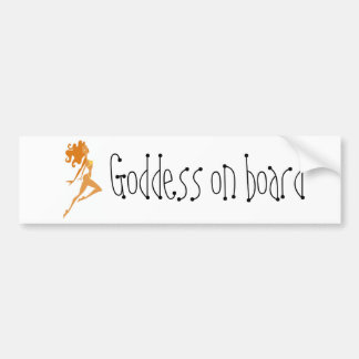 Diosa a bordo etiqueta de parachoque