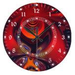 Diosa ambarina - placer abstracto del rojo y del o reloj