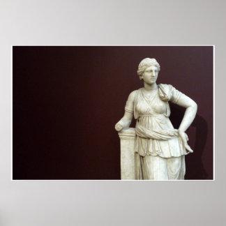 Diosa Artemis - escultura de Estambul - poster