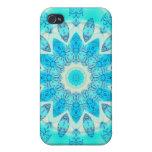 Diosa azul del hielo, cristales abstractos del amo iPhone 4/4S carcasa