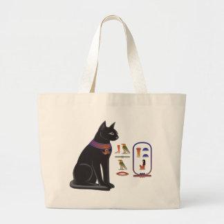 Diosa Bastet del gato egipcio Bolsa Tela Grande