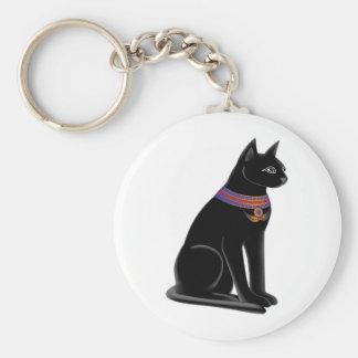 Diosa Bastet del gato egipcio Llavero Redondo Tipo Pin