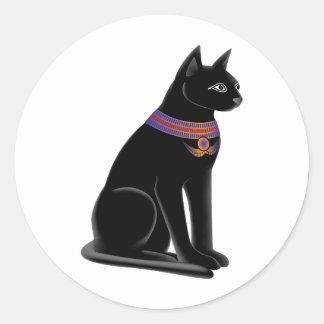Diosa Bastet del gato egipcio Pegatina Redonda