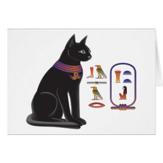 Diosa Bastet del gato egipcio Tarjeta De Felicitación