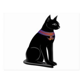 Diosa Bastet del gato egipcio Tarjeta Postal