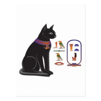 Diosa Bastet del gato egipcio Postal
