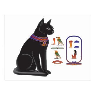 Diosa Bastet del gato egipcio Tarjetas Postales