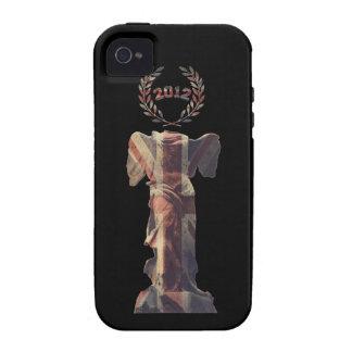 Diosa BRITÁNICA de la victoria Case-Mate iPhone 4 Carcasas