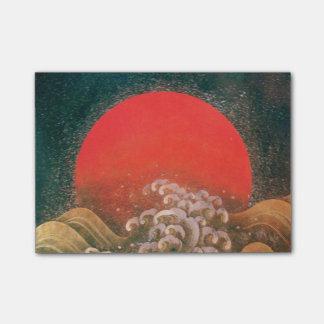 DIOSA Brown negro rojo del SOL de AMATERASU Post-it® Nota