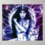 Diosa céltica Hecate por el iris de Lisa Posters