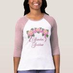 Diosa color de rosa del jardín de la bandera camiseta