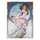 Diosa color de rosa tarjeta