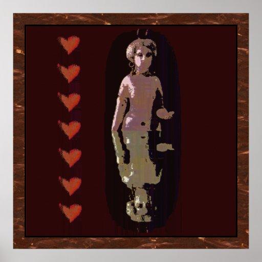 Diosa con los corazones poster