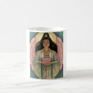 Diosa de Kuan Yin de la compasión Taza