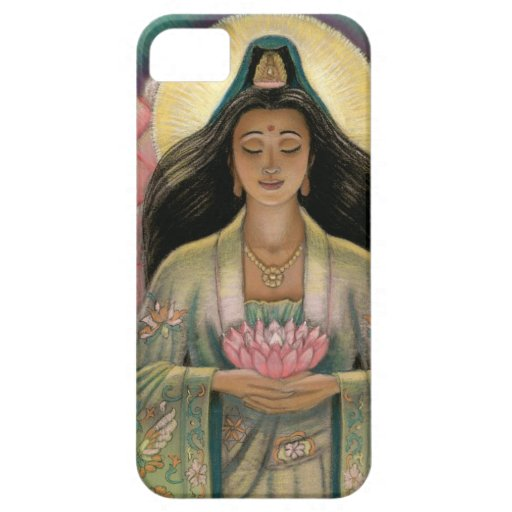 Diosa de Kuan Yin del caso del iPhone 5 de la iPhone 5 Fundas