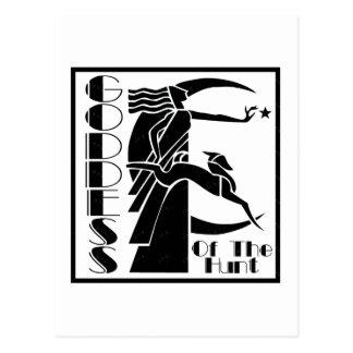 Diosa de la caza postales