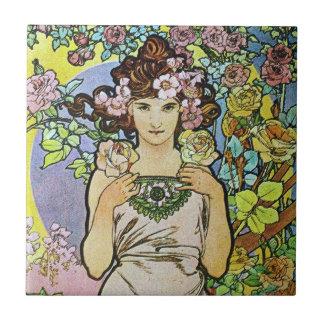 Diosa de la flor azulejos