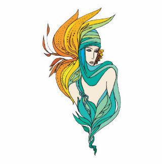 diosa de la flor fotoescultura vertical