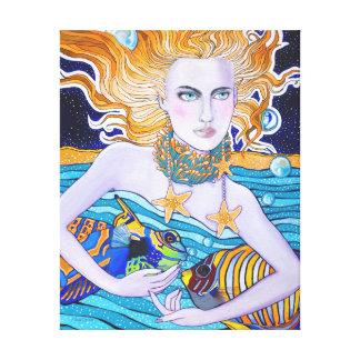 Diosa de la impresión de la lona del mar lona estirada galerías