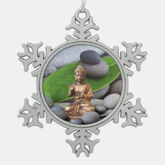 Diosa de la India Adorno De Peltre En Forma De Copo De Nieve