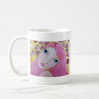 Diosa de la libertad taza básica blanca
