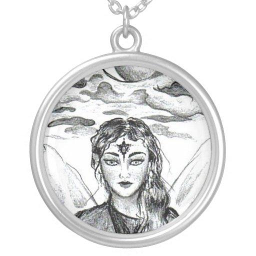 Diosa de la luna collares personalizados