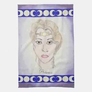 Diosa de la luna de Artemis Toallas